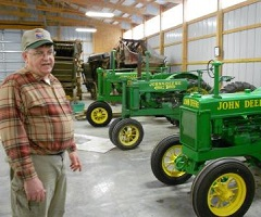 Neurosurgeon Keith Kuhlengel with Tractors